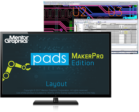 Mentor Graphics PADs Maker Screen