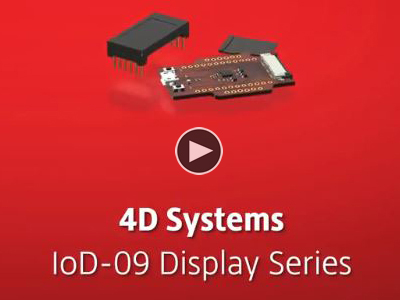4D Systems IoD-09 Displays Series | Maker Minute